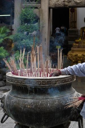 buddhism prayer belief: Incense burner