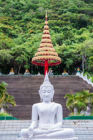 Buddha statue in thai temple photo