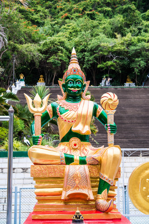 Giant statue in thai temple photo