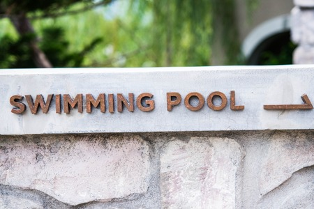 swimmingpool: swimming-pool sigh Stock Photo
