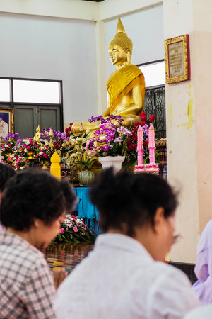 People in thai temple