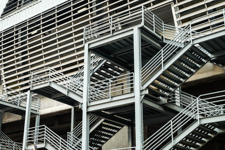 Iron stair Stock Photo