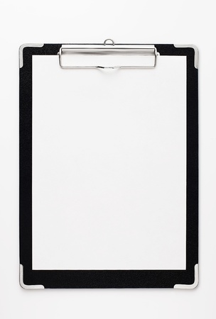 Black clipboard with copy space. Stock Photo - 12147282