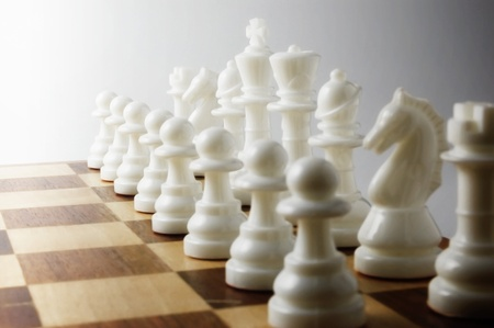 White chess pieces photo