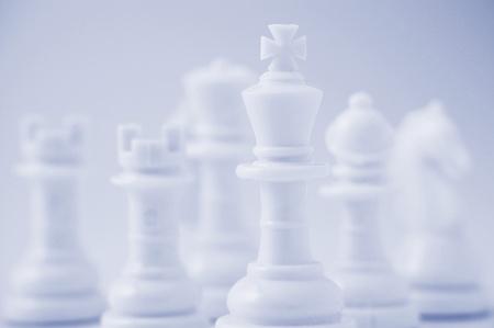 chessmen: White chessmen Stock Photo