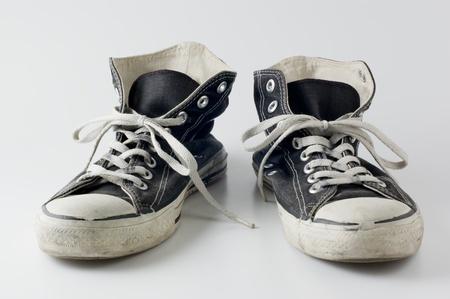 black color vintage sneakers photo