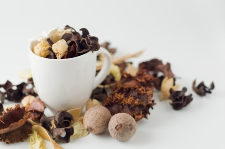 Coffee cup and potpourri photo
