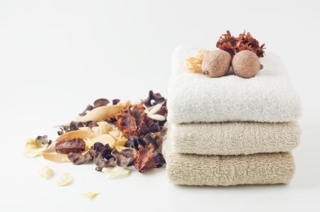 dry potpourri and towel photo
