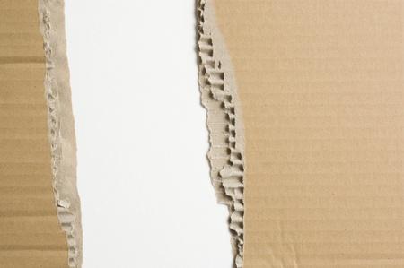 Tattered cardboard photo