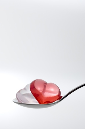 Scoop the Small heart shape sundries with a spoon photo
