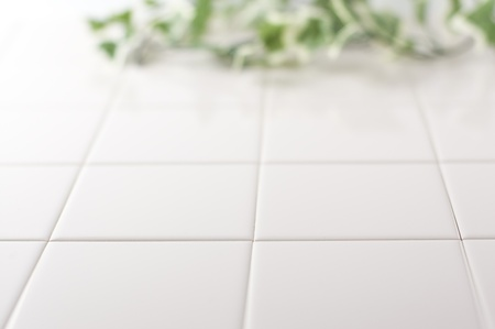 white tile background
