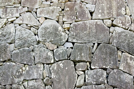 Stone wall in japanese castle Stock Photo - 12407627