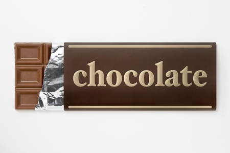 Wrapping of chocolate aluminum foil and paper photo