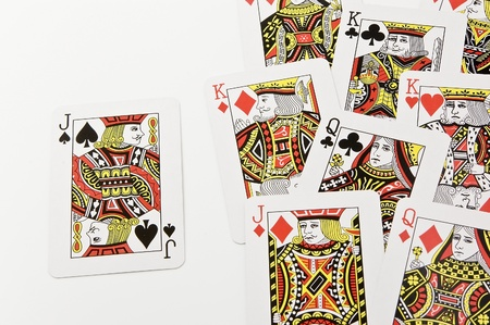 Playing cards white background Stock Photo - 12406706