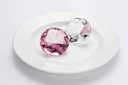 Jewels on a plate photo