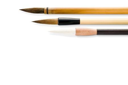 Writing brush isolated on white background Stock Photo - 16153256