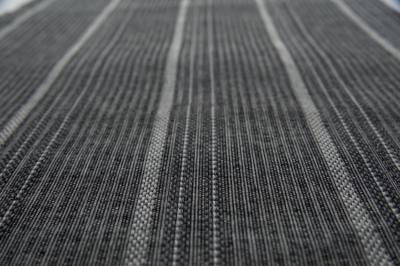 Gray stripe fabric of japanese traditional craft, close up  photo