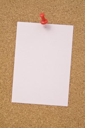 Blank notepad pinned on corkboard, close up Stock Photo - 16153712