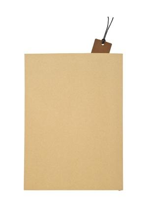 paperback: Brown brossura copertina vuota con segnalibro, alta vista Archivio Fotografico
