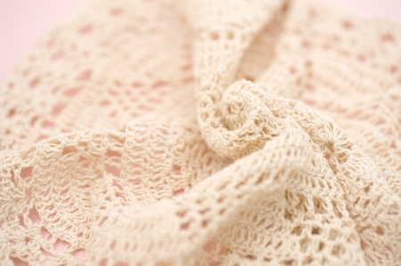 close knit: Beige knit fabric background image, close up