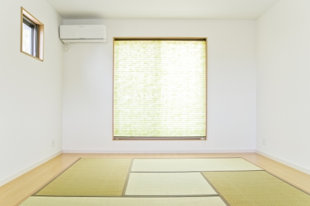 housing style: Japanese style room of new residential housing  Stock Photo