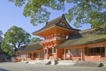 shrine: Usa jingu, japanese famous shrine  Stock Photo