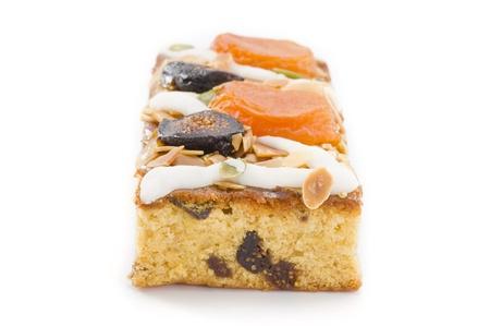 pound cake: Pound cake on white background Stock Photo