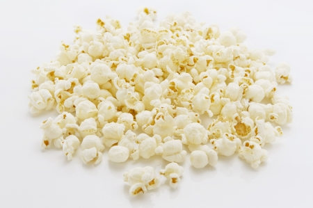 Popcorn on white background photo