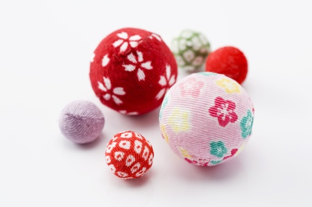 Temari, Japanese New Year decoration  Stock Photo