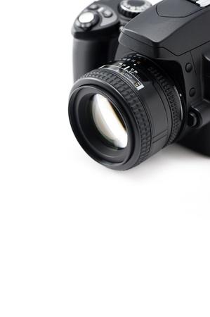 白い背景の上の一眼レフ カメラ 写真素材 - 16279897
