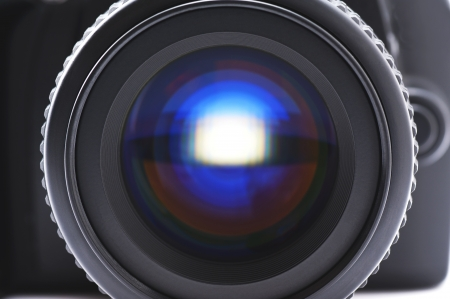 Close-up shoot of SLR camera lens  photo