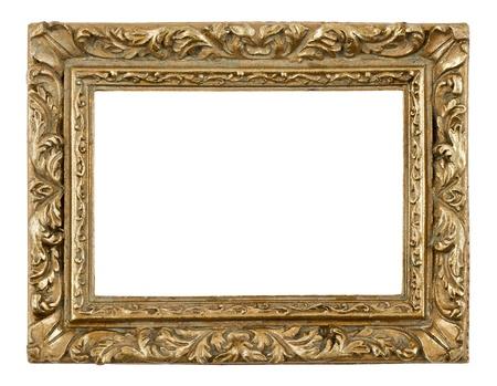 gild: Bianche cornice antica su sfondo bianco, close-up