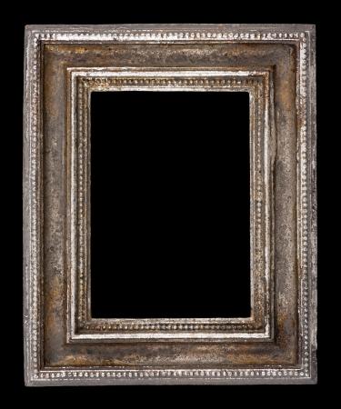 Blank frame antique sur fond noir, gros plan