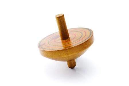 Vecchio piano in legno di filatura giocattolo classico
