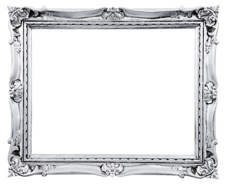 白い背景に分離されたビンテージ フレーム クローズ アップ 写真素材