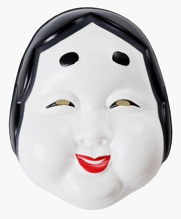 Otafuku is legendary character,  japanese traditional mask for festival