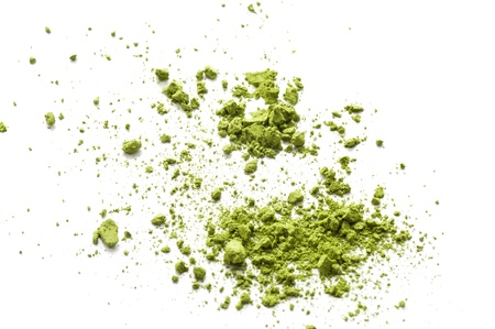 Maccha, dried powder green tea of asian traditional beverage  Stock Photo