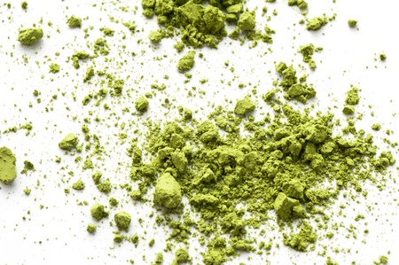Maccha, dried powder green tea of asian traditional beverage  版權商用圖片
