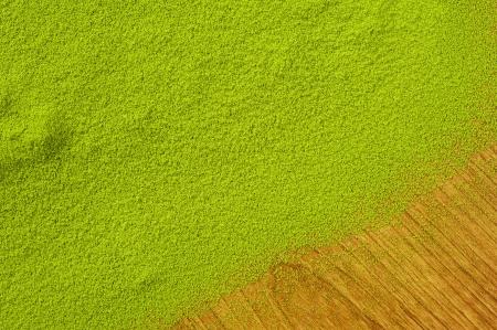 maccha: Maccha, dried powder green tea on wooden background  Stock Photo