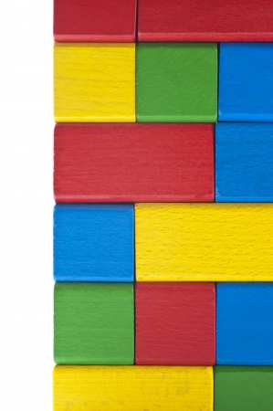 Pile of colorful building block, background texture