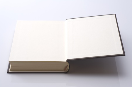 open blank page of thick book, hardcover