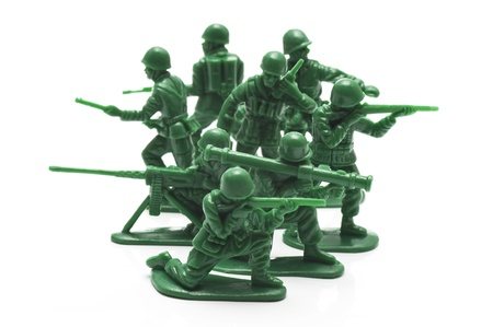 miniture toy soldiers to attack the enemy Stock Photo