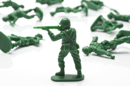 miniture toy soldiers to attack the enemy photo