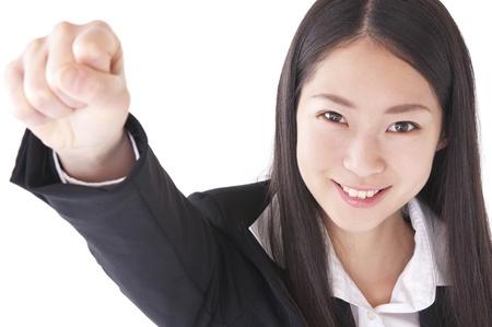 wnętrzności: Uśmiechnięta kobieta stwarzających wnętrzności