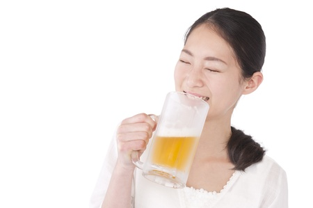 Women who drink beer 写真素材