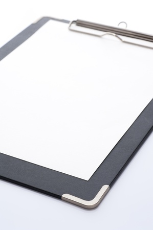 コピー スペースと白でクリップボードを空 写真素材