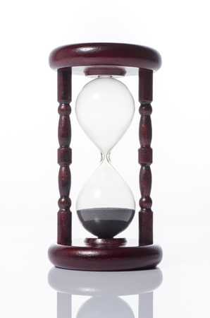 Hourglass on white background Stock Photo