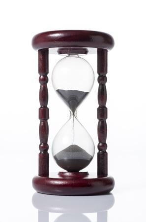 Hourglass on white background 写真素材