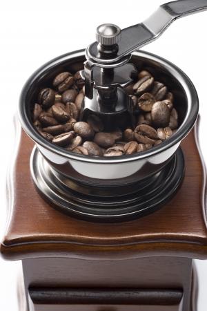 retro: close up of retro coffee mill
