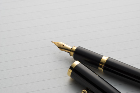 fountain pen on letter paper